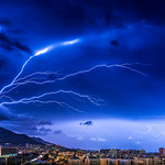 2. November 2015 - 1:38 - This is one long exposure photo, no manipulations!!!  Awesome lightnings!