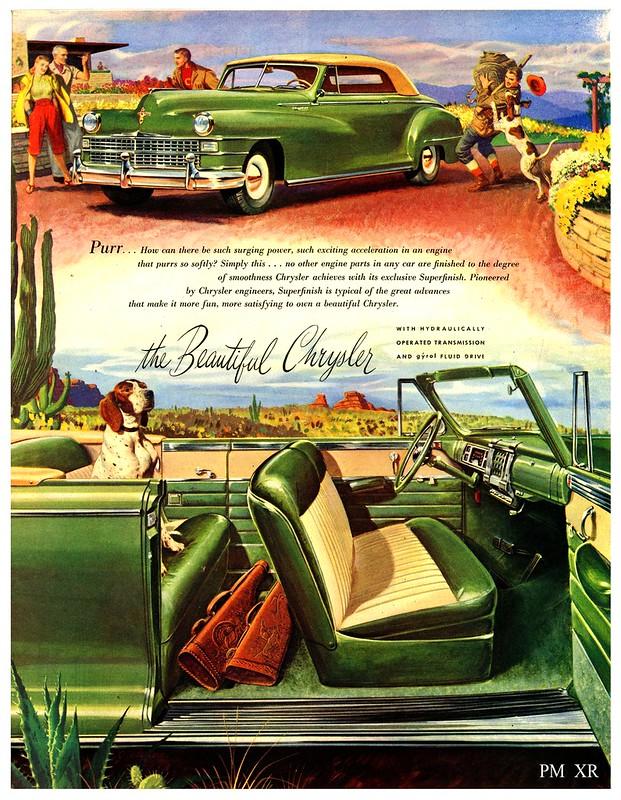 1947 ...   green Chrysler!