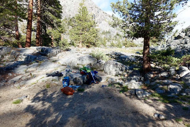 Great campsite at Piaute Creek, m855