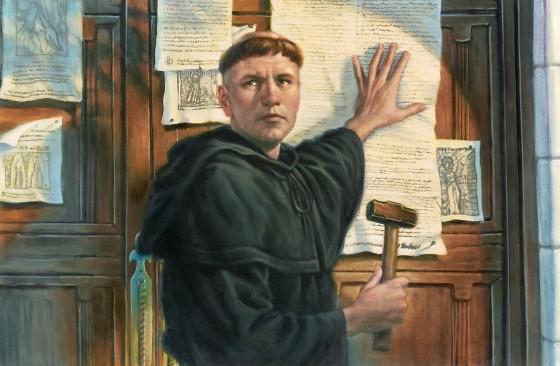 Lutero clavando las tesis