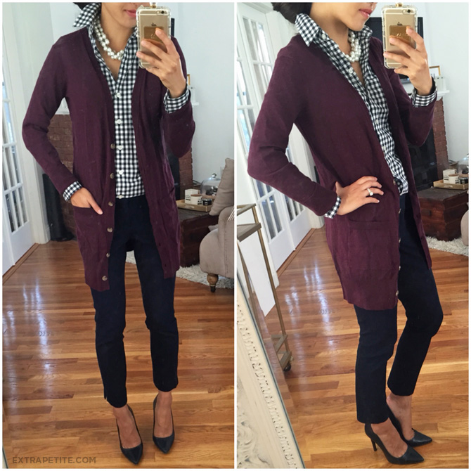BP cotton cardigan work outfit