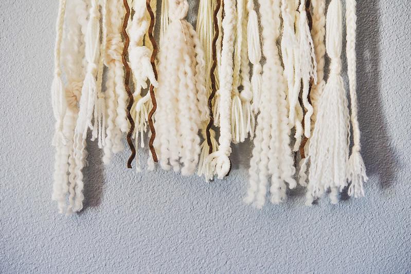 diy wall hanging tutorial bohemian yarn