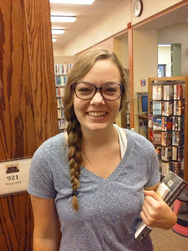 Maddie, LIbrary Page, leaving for college