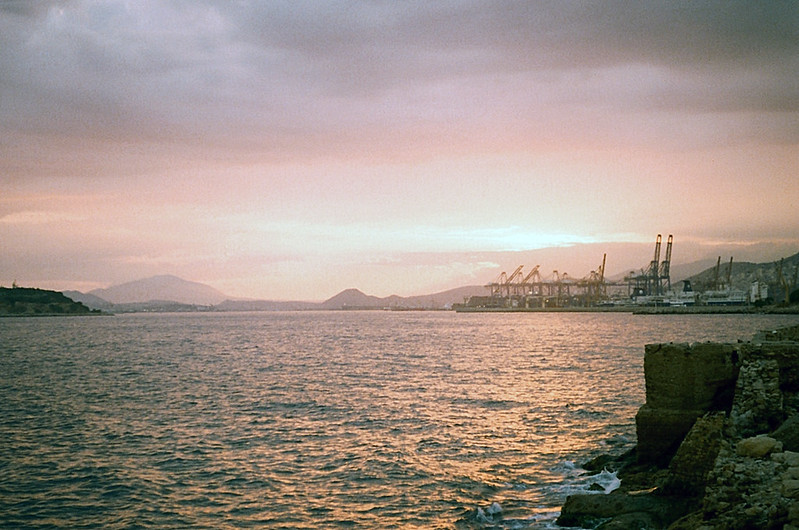 A sunset at Piraeus