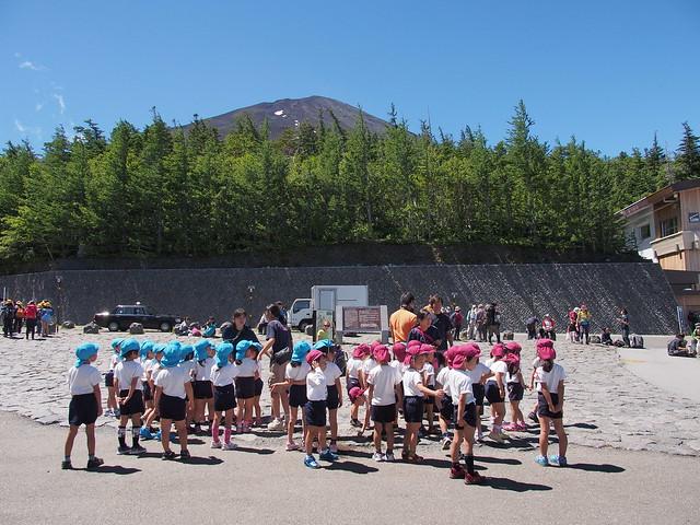富士山五合目的校外教學