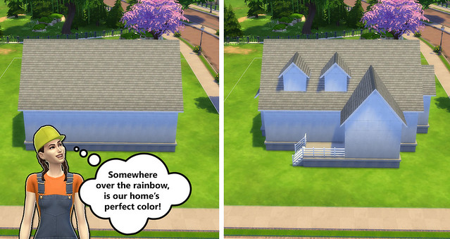 Building for Beginners in The Sims 4 (Exterior Color and