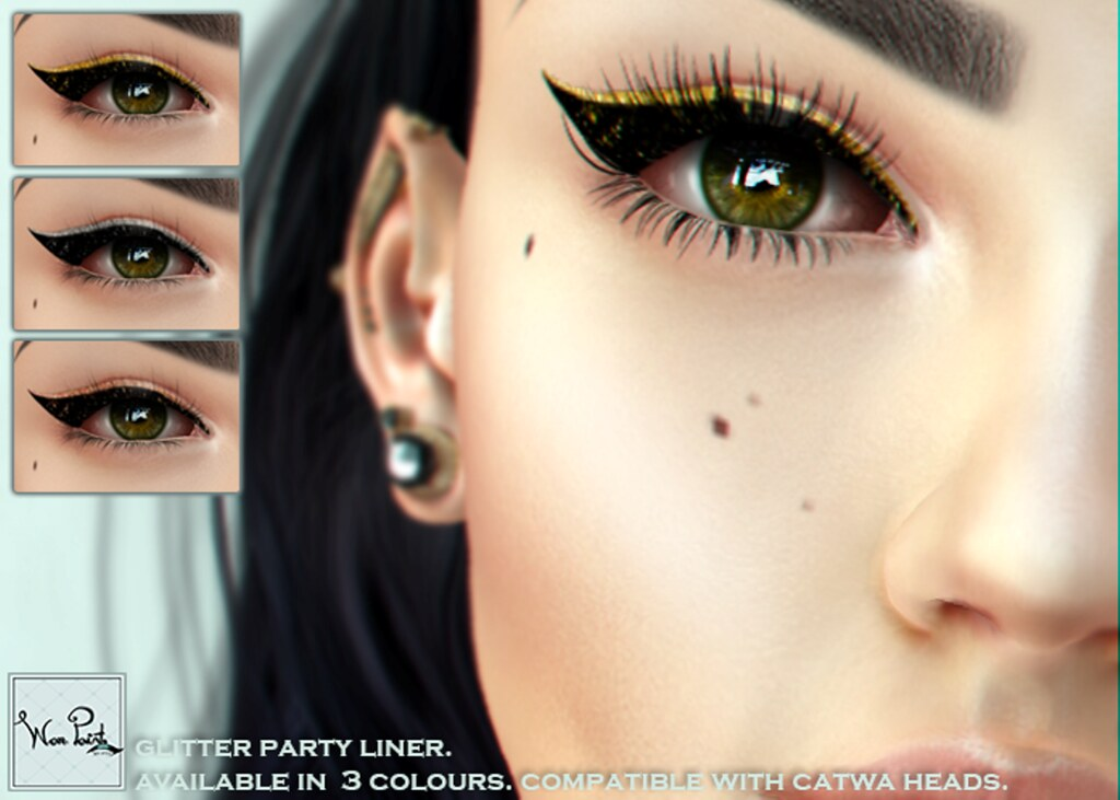 WarPaint* @Appliqué - Glitter party liner - SecondLifeHub.com