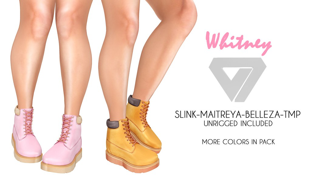Whitney Work Boots (for Tres Chic) - SecondLifeHub.com