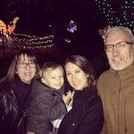 Me, the parents, and the peanut at zoo lights. by bartlewife