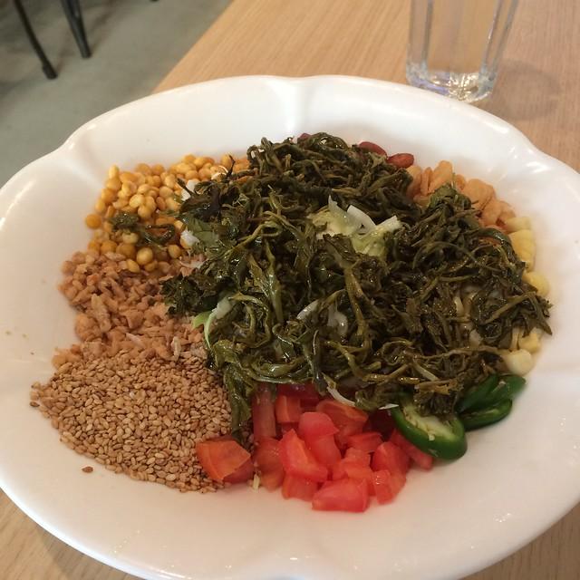 Laphet thoke (tea leaf salad)