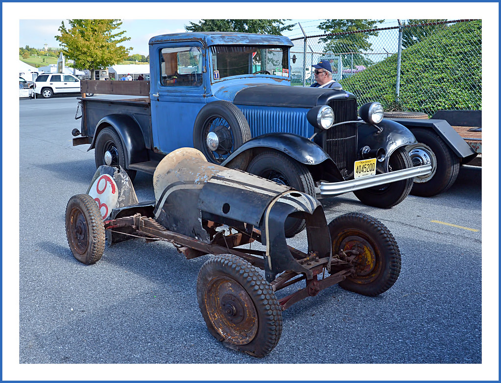 ... 1932 Ford Pickup and 1930s Midget Racer   by sjb4photos