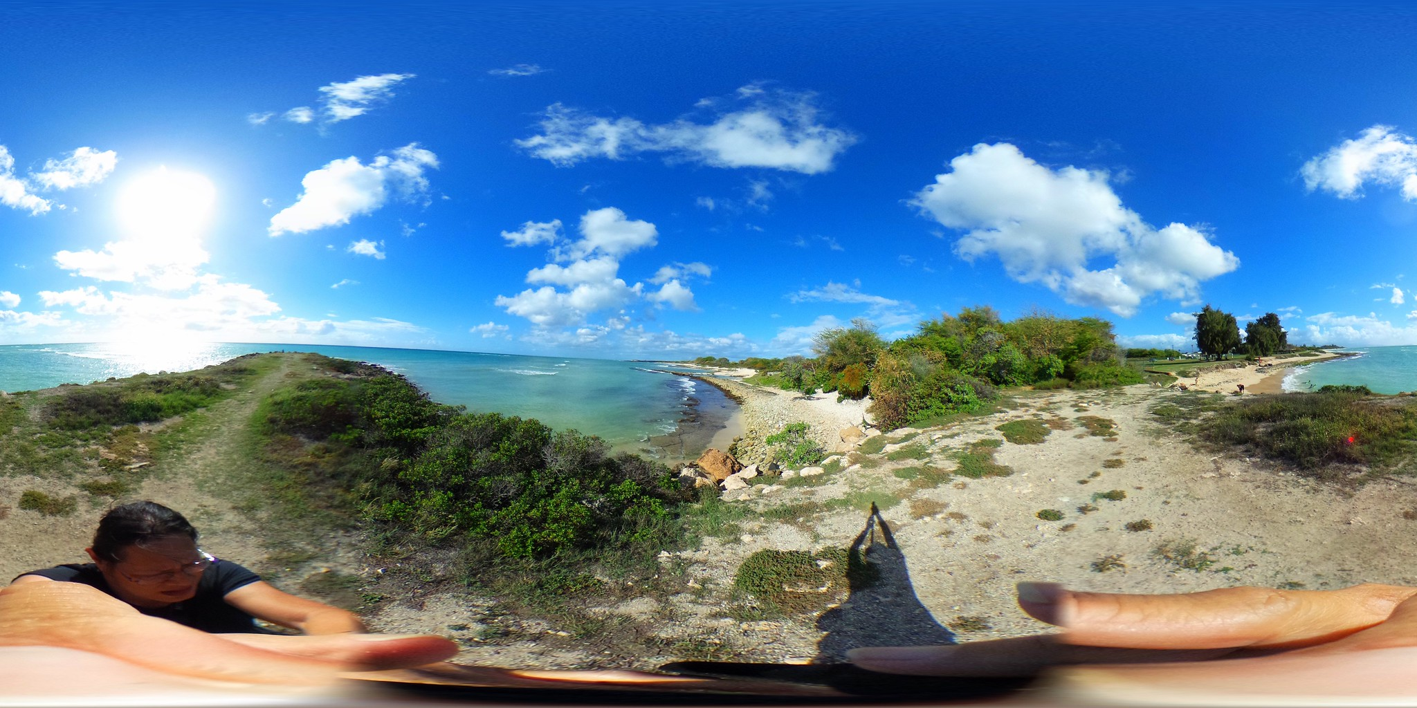 Nimitz Cove Beach at Kalaeloa, Oahu, Hawaii - a 360° Equirectangular VR