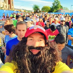 I grew up attending the BolderBoulder every year as a family tradition, running for the first time in 2000. I ran my 15th consecutive BolderBOULDER yesterday, this time as one of my favorite movie characters, Forrest Gump.