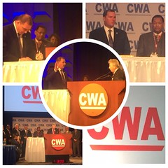 CWA District 2-13 re-elected VP Ed Mooney