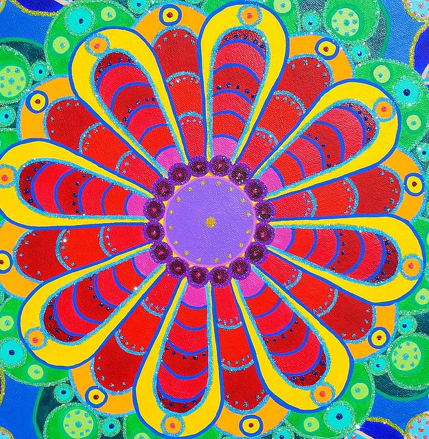rainbow mandala 4