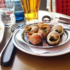 #Delicatessen #Escargot in Pesto.  #Tsubaigai in Japanese #Snail in English #Suso in Tagalog #foodie #gastronomy #Paris #CastelCafe