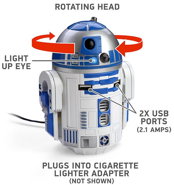 ThinkGeek【R2-D2 車用充電器】你準備好了嗎?!我們準備起飛囉!!