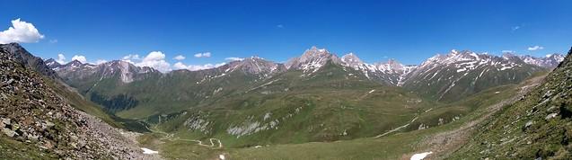 Panoramablick Abstieg Richtung Klammlsee