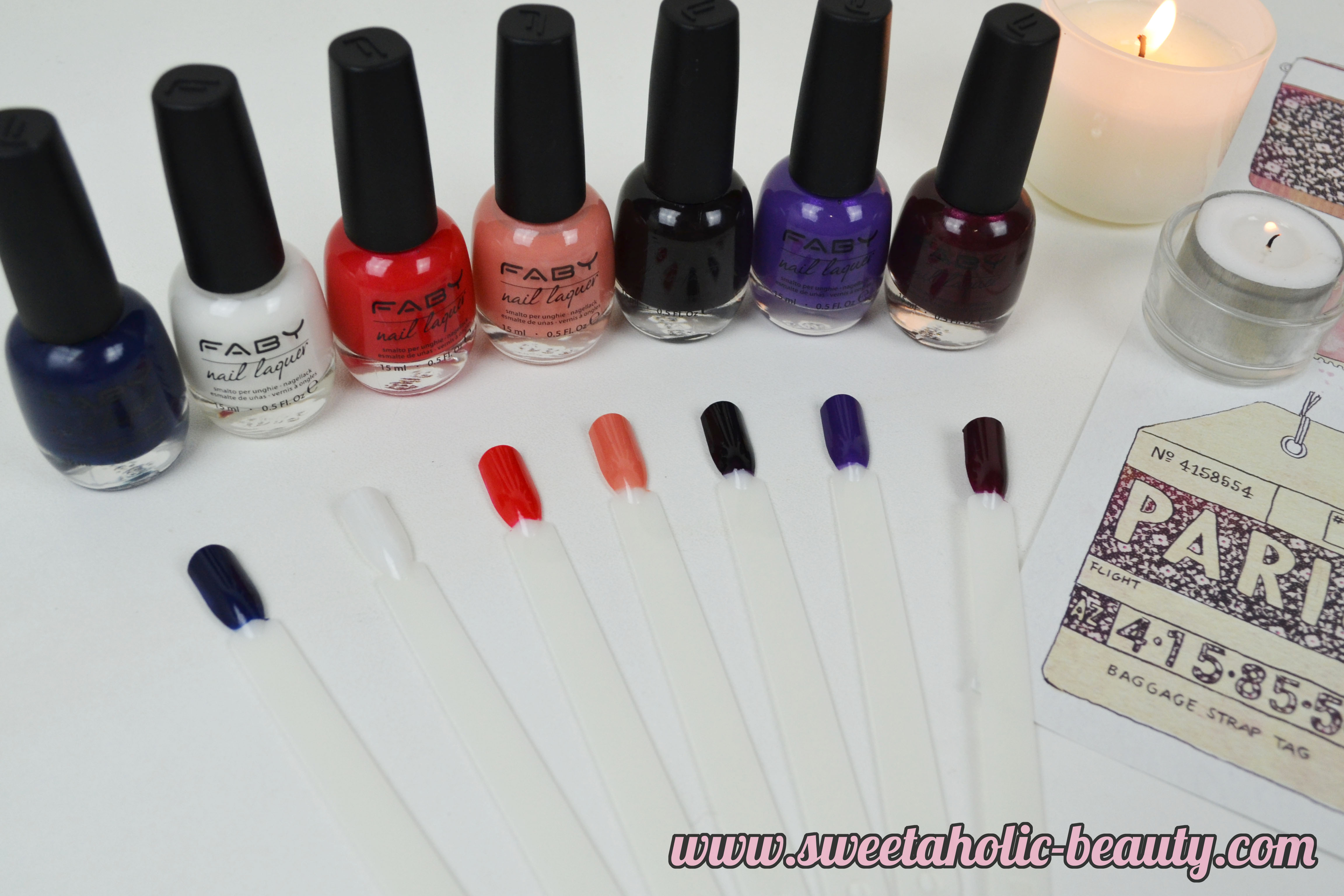 Faby Nails Vive La France Collection Review & Swatches - Sweetaholic Beauty