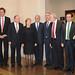 La Presidenta de la República, Michelle Bachelet (al centro), junto a autoridades de gobierno y  representantes del sector eléctrico.