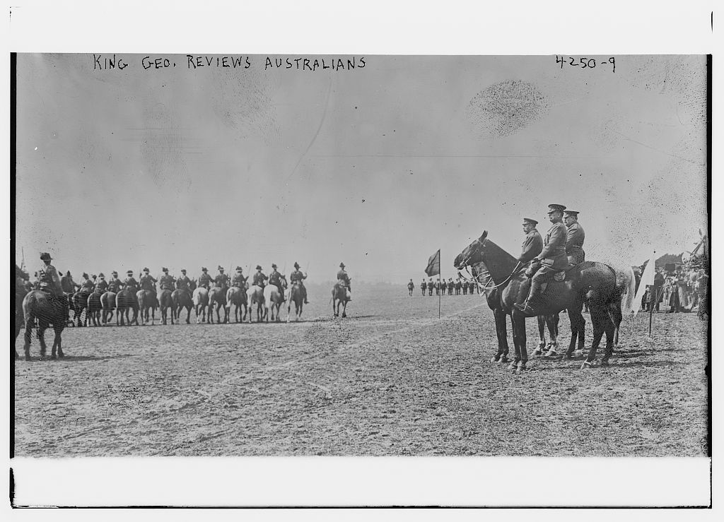 King Geo. reviews Australians (LOC)