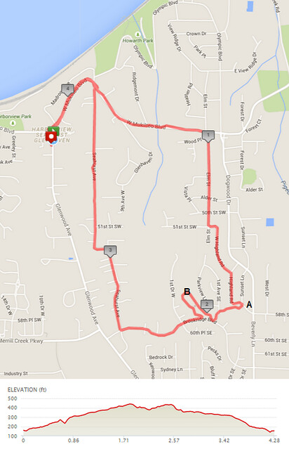 "Today""s awesome walk, 4.28 miles in 1:26, 9,205 steps, 316ft gain"