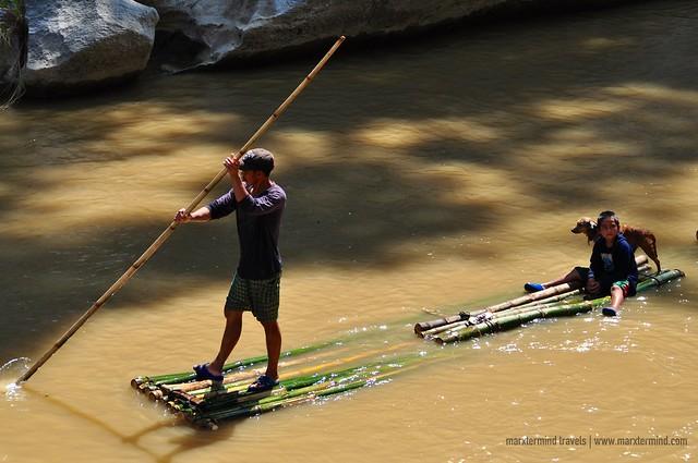Bamboo Rafting at Minalungao National Park