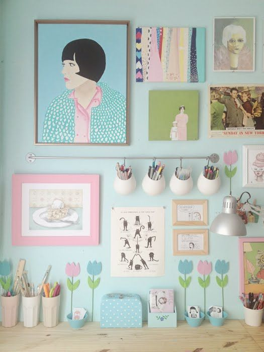 scathingly brilliant pastel workspace