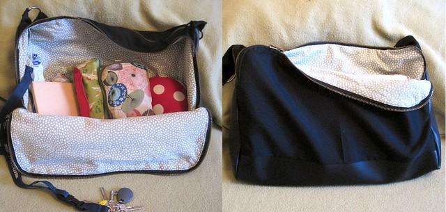 black bag front and back