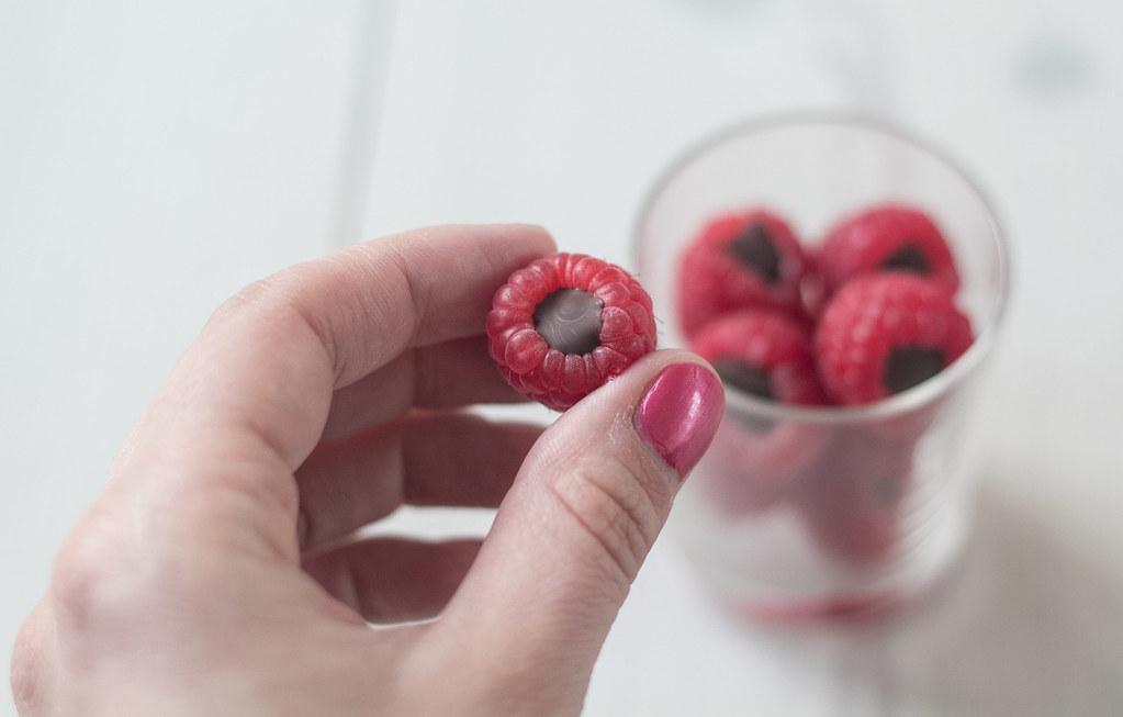 Hindbær med chokoladefyld (15)