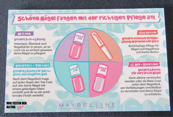 Maybelline Dr. Rescue Nagelpflege Nailcare www.wirtestendenalltag.blogspot.de