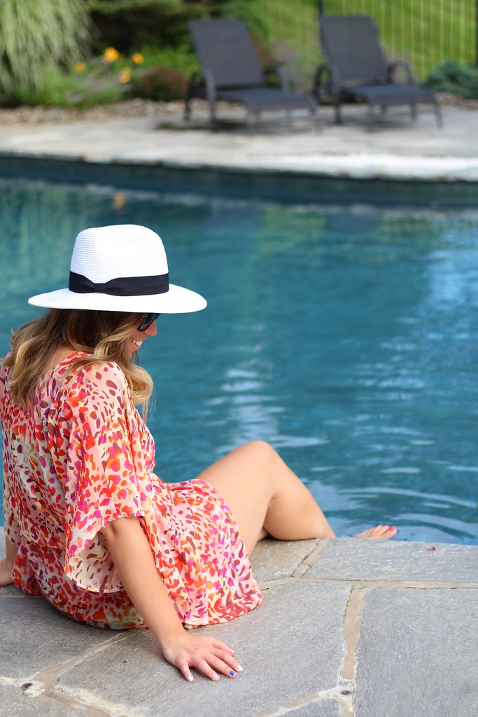 Bright Printed JustFab Bathing Suit Cover Up