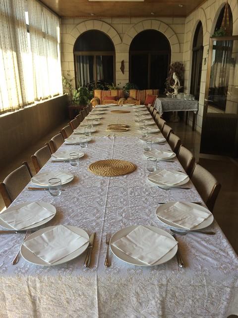 Jordan Roundup - dinner table