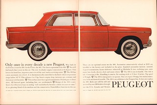 1961 Peugeot 404 Advertisement Motor Trend May 1961