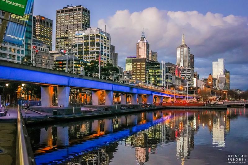 Melbourne sunset train