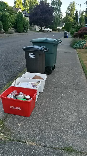 Somehow I keep going to each neighborhood on its garbage day