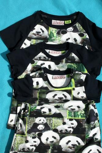 3 maal tricot - Panda's!