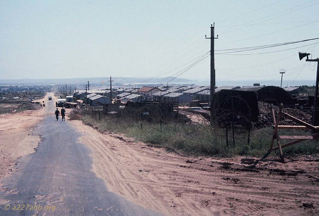 Phan Thiet 1967 - Photo by Bob Kelly - Road from LZ Betty into Phan Thiet