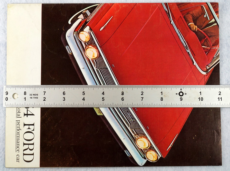 RD12665 1964 Ford Galaxie 500 XL Custom Country Squire Color Brochure Catalog DSC08645