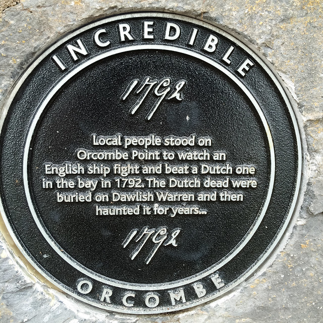 Photo of Orcombe Point black plaque