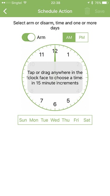 Blink iOS App - Scheduling
