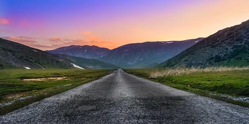 road sunset sunlight mountain landscape nationalpark sundown outdoor dusk hill macedonia mountainside sunsetlight goldenhour foothill mavrovo nationalparkmavrovo mountbistra