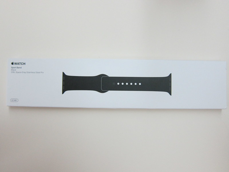 Apple Watch 42mm Black Sport Band - Box Front