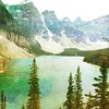 Moraine Lake, #Banff National Park, Alberta, Canada. Created with #DistressedFX http://j.mp/WOo1FQ