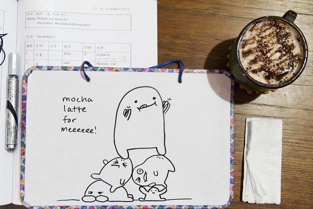 Mocha latte doodle