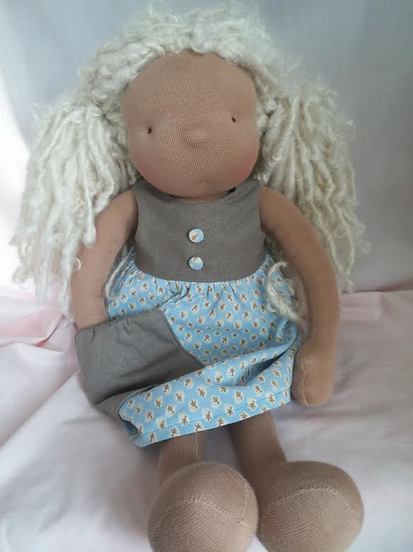 Louise wearing Pebble Collecting Dress