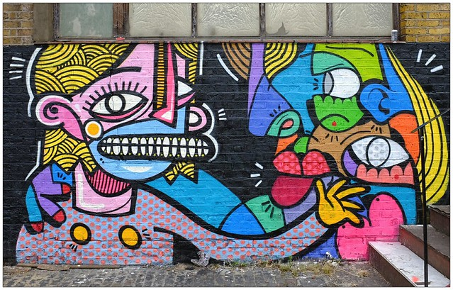 Graffiti (Joachim & Hunto), East London, England.
