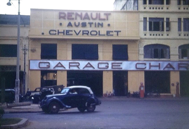 SAIGON 1953 - GARAGE CHARNER 131 Nguyen Huê : Exclusive distributor in Vietnam for Renault, Austin, Chevrolet