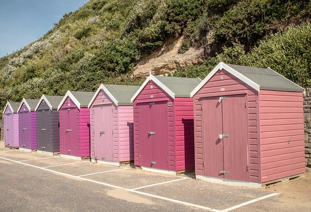 Colour Coded Beach Huts