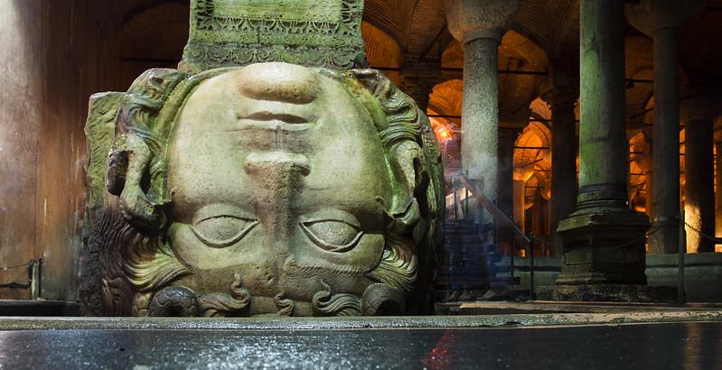 Column with Medusa base in Yerebatan Sarnici